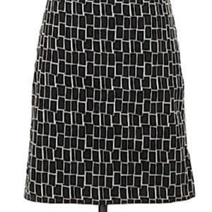 Ann Taylor B&W rectangle print skirt sz 4?